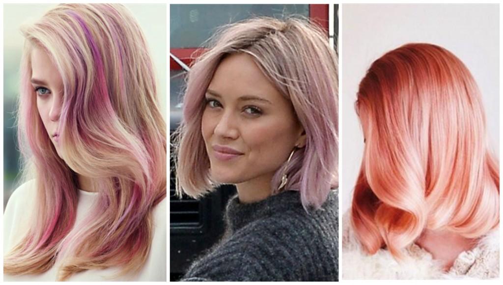 Capelli corti biondi rosa